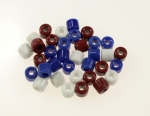 Glass Crow Beads<br>6mm x 6mm<br>1 Pound For