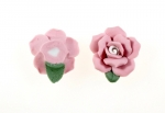 Porcelain Roses<br>22mm<br>24 pieces For