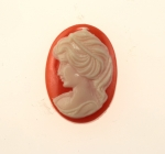 Plastic Cameo<br>25mm x 18mm<br>72 Pieces For
