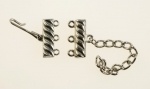 3 Strand Hook Clasp<br>50 Sets For