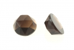 Smokey Quartz Facetted Cabochon<br>15mm<br> 6 For