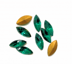 Navette Rhinestones<br>15 x 7mm<br>Gemstone Colors<br>1 gross for
