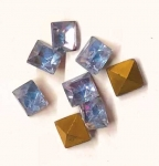 Glass TTC Squares<br>8mm<br>Gemstone Colors<br> 2 gross for