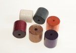 Barrel Shape Wood Beads<br> 1 Inch Diameter<br>6 Colors Available<br>50 Pieces For