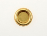 Flat Back Brass setting<br>10mm<br>100 For