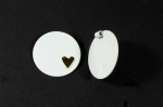 Enamel Disc Pendant<br>1 1/4 Inch<br>24 Pieces For