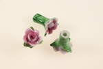 Ceramic Rose Bud<br>4 Colors Available<br>1 Dozen For