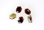 Garnet In Setting<br>8x6mm<br>5 For