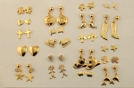 Gold Plated Stud Earring Assortment<br>200 Pair For