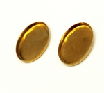 Settings<br>18 x 13mm Oval<br>Gold Plated<br>1 gross for