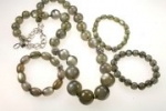 Necklace and bracelet set. <br>3  four piece sets for