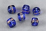Glass Bead<br>10mm with Gold tone accents<br>1 pound for