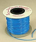 Rubber Stretch Cord<br>2mm Neon Blue<br>75 yards for