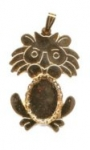 Lion pendant with chain bail. <br> 1 dozen for