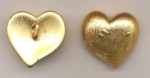 Gold plated heart pendant. <br> 1/2 gross for