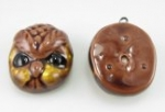 Owl face pendant<br>2 dozen for
