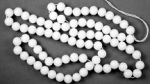 Glass beads<br>8mm Alabaster<br>2.8 pounds for