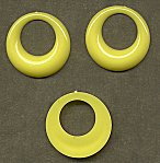 Flat-Back Pirate Hoops<br>35mm Opaque Yellow<br>1 gross for