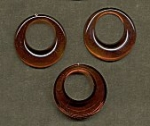Flat-Back Pirate Hoops<br>35mm Tortoise Shell color<br>1 gross for