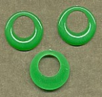 Flat-Back Pirate Hoops<br>35mm Jade Green<br>1 gross for