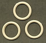 Round Plastic Hoops<br>37mm Ivory Color<br>1 gross for