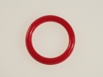 Round Plastic Hoops<br>28mm Opaque Red<br>1 gross for