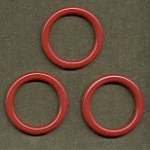Round Plastic Hoops<br>38mm Opaque Red<br>1 gross for