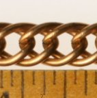 Brass Double-Link Curb Chain<br>50 feet for